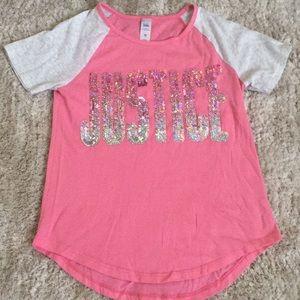 Justice Blush Pink shirt LIKE NEW